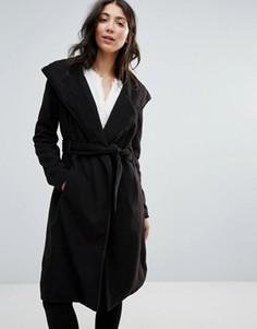 Пальто с поясом Brave Soul - Черный