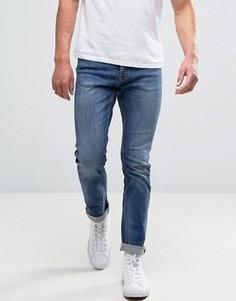 Узкие выбеленные джинсы New Look - Синий