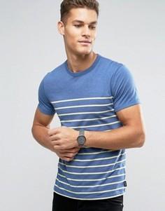Узкая футболка из двойного трикотажа в полоску Abercrombie & Fitch - Синий