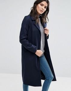 Длинное пальто Brave Soul - Темно-синий