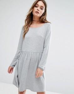 Платье с присборенной юбкой Vila - Серый