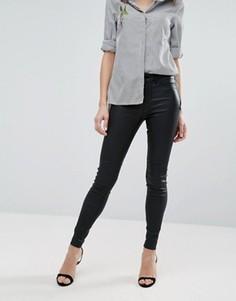 Зауженные джинсы с покрытием New Look - Черный