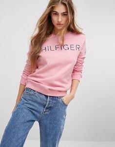 Свитшот с логотипом Tommy Hilfiger - Розовый