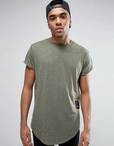 Свободная футболка G-Star BeRaw Qane - Зеленый
