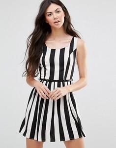 Платье в полоску Yumi - Черный