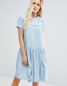Платье в джинсовом стиле Little White Lies Suki - Синий