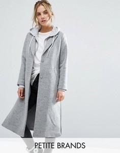 Длинное пальто New Look Petite - Черный