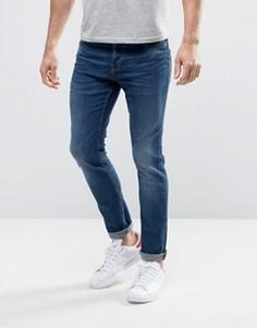 Синие эластичные джинсы узкого кроя Only & Sons - Синий