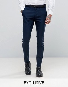 Темно-синие супероблегающие брюки Only & Sons - Темно-синий