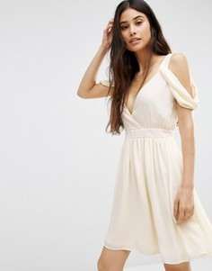 Платье мини с открытыми плечами Oh My Love - Желтый