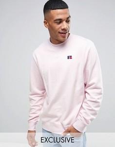 Свитшот с вышитым логотипом Russell Athletic - Розовый