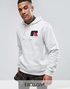 Худи с шенильным логотипом Russell Athletic - Серый