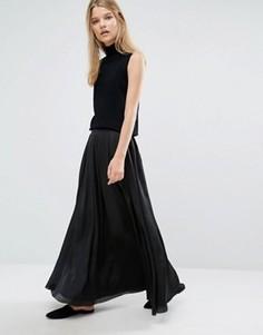 Длинная юбка Samsoe & Samsoe Nuit - Черный