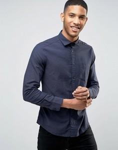 Узкая рубашка Esprit - Темно-синий
