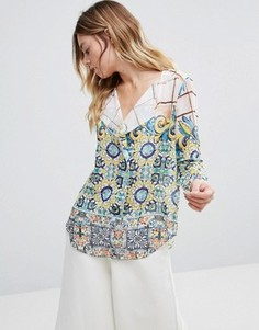 Рубашка с принтом и рукавами-кимоно Traffic People - Мульти