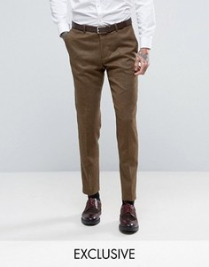 Зауженные брюки из твида Heart & Dagger - Коричневый