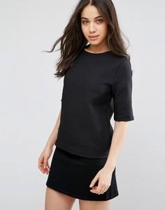 Фактурная футболка Vila - Черный