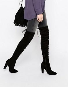 Сапоги-ботфорты с завязкой сзади Public Desire Olivia - Черный