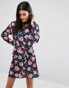 Платье-рубашка с ремнем Unique 21 - Мульти