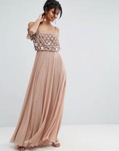 Платье макси ASOS - Розовый