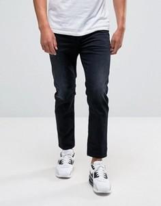 Темные укороченные джинсы слим Diesel Jifer Jean 900 - Темно-синий