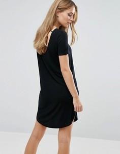 Платье-футболка с короткими рукавами Vila - Черный