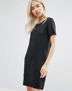 Платье-футболка с эффектом металлик Vila - Черный