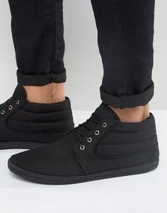 Черные парусиновые ботинки чукка ASOS - Черный