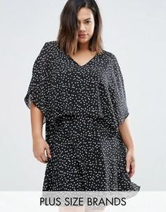 Многослойное платье с открытыми плечами Koko Plus - Черный