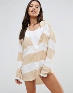 Пляжная рубашка в широкую полоску Zulu And Zephyr - Мульти