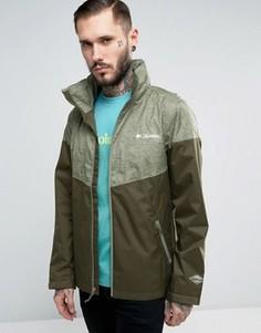 Зеленая 2-цветная водонепроницаемая куртка с капюшоном Columbia Inner Limits - Зеленый