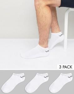 Комплект из 3 пар белых спортивных носков Vans VXS8WHT - Белый