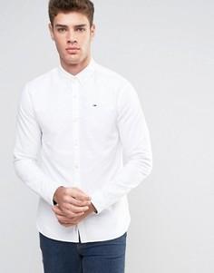 Белая оксфордская рубашка классического кроя на пуговицах Hilfiger Denim - Белый