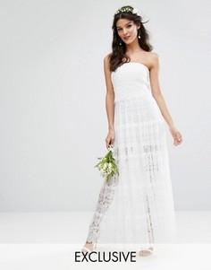 Многоярусное платье макси Bodyfrock Bridal - Белый