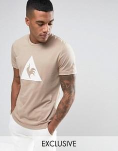 Коричневая футболка с большим логотипом Le Coq Sportif 1711091 - Коричневый