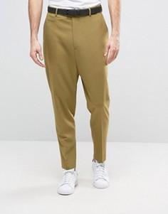 Светло-зеленые брюки с заниженным шаговым швом ASOS - Зеленый