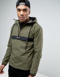 Куртка цвета хаки через голову Nicce London - Зеленый