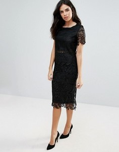 Кружевная юбка-карандаш Zibi London - Черный
