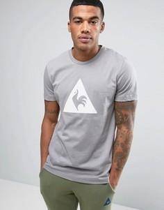 Серая футболка с большим логотипом Le Coq Sportif 1711092 - Серый
