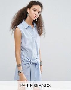 Джинсовое платье с отделкой Glamorous Petite - Синий