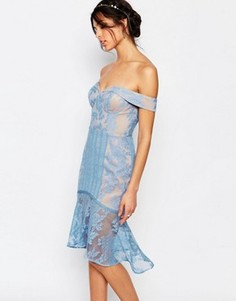 Кружевное платье миди Jarlo Juliet - Синий
