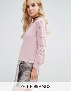 Джемпер с отделкой на рукавах Miss Selfridge Petite - Розовый