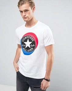 Белая футболка с большим логотипом Converse 10003901-A01 - Белый