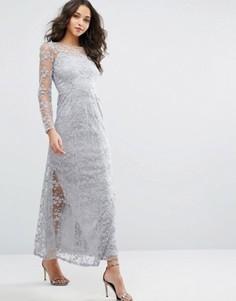 Кружевное платье макси Vero Moda Premium - Синий