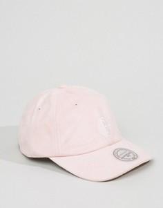 Замшевая бейсболка с регулируемой застежкой Mitchell & Ness - Розовый