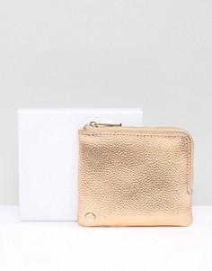 Кошелек для монет цвета розового золота Mi-Pac - Золотой
