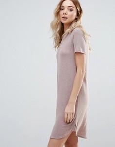 Платье-футболка с короткими рукавами Vila - Розовый