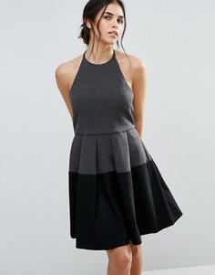 Платье в стиле колор блок d.RA Aria - Серый