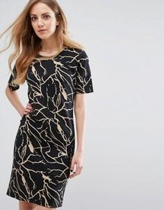 Платье с принтом b.Young Silje - Черный