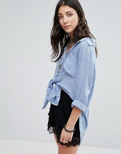 Рубашка Free People Thats A Wrap - Синий